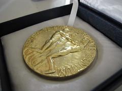 Back of Nobel Peace Prize Medal
