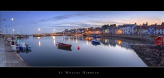 St Monans Harbour @ Dusk (Kit Downey) Tags: uk longexposure pink blue sunset sea summer panorama seascape color water june night reflections boats eos lights coast scotland colours stitch harbour fife dusk pano panoramic tokina explore bluehour fishingboats frontpage hdr afterdark fishingvillage elie 2010 crail photomatix eastneukoffife eastneuk scottishcoast t2i tokina1116mmf28 scottishharbour kitdowney canon550d rebelt2i