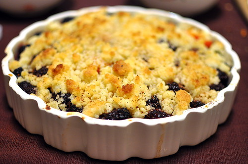 Berry and Apricot Crumble