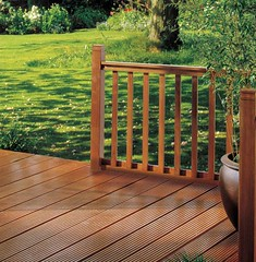 Hardwood Flat Baluster Ground Level Decking (Richard Burbidge) Tags: decks decking deckrailing deckboards wooddecking gardendecking richardburbidge deckingbalustrade deckingrails deckingbalustrades