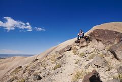 Me, hiking the Devil's Thumb