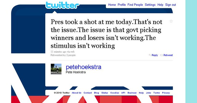 Pete Hoekstra Rooting For Failure