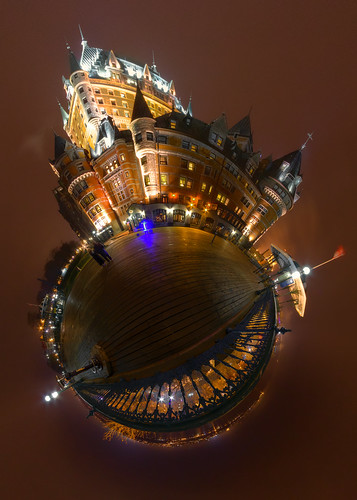 Chateau Frontenac from the Balcony - Stereographic