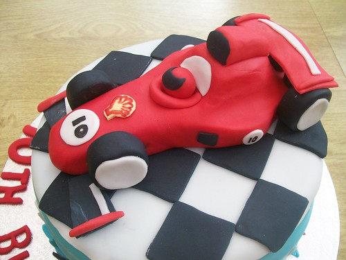 formula 1 racing car cake topper.cakeebakey
