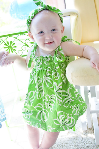 Penelope in her green dress
