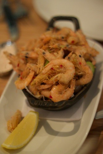 crispy school prawns sautéed with chilli and garlic