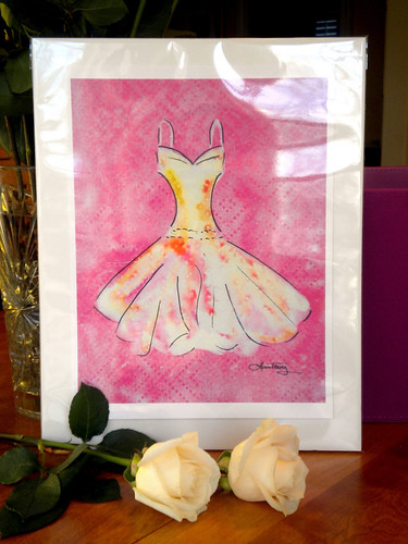 Bridesmaid Dress - Watercolor Art Print