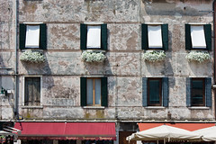 Patina (AGrinberg) Tags: venice windows italy building texture awning europe shutters curtains planter patina fenestration 0256patinaa