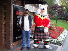 Normy and the Bear (Royal Scotsman in Vancouver) (marciemf) Tags: bc normy