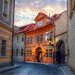 Charming little restaurant in Prague, HDR by Blancs-Manteaux