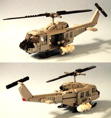 "UH-1 ""Huey"" (psiaki) Tags: lego bell vietnam huey helicopter gunship iroquois moc uh1"