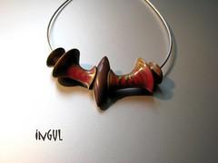 Workshop - Christine Dumont 1 (Ingul-design) Tags: necklace unique jewelry polymerclay fimo handcrafted kato ketten handarbeit unikatschmuck