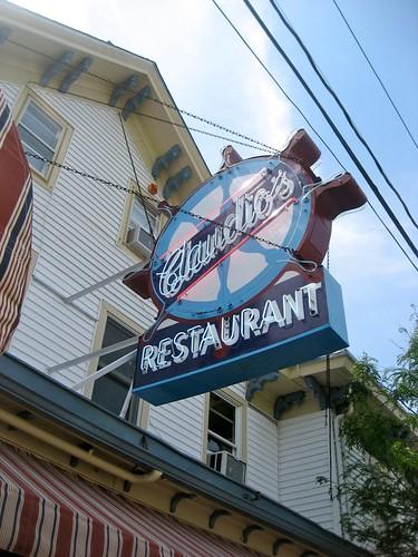 Claudio's Restaurant Vintage Sign