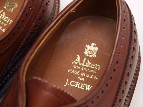 Alden for J.Crew / Waxed Longwing Bluchers