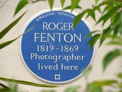 Photo of Roger Fenton blue plaque