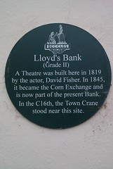 Photo of David Fisher green plaque