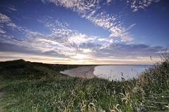 HARTLEY LINKS (Michael Halliday) Tags: uk sunset sea seascape beach nikon northumberland d90 seatonsluice sigma1020