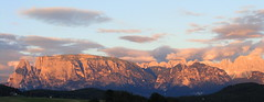 Tramonto rosso sulle Dolomiti  - Red Sunset over the Dolomites (Cristina 63) Tags: sunset italy mountains montagne europa europe italia tramonto explore dolomites dolomiti rosengarten monti altoadige southtyrol mounts suedtirol catinaccio renon ritten schlern oberbozen sciliar soprabolzano mariaassunta mariahimmelfahrt perfectsunsetssunrisesandskys explorecristina63 holidays2010 vacanze2010