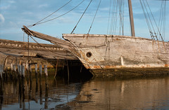 BOOTHBAY_02 (Chris Protopapas) Tags: abandoned sailing ship decay maine shipwreck hulk derelict schooner clipper luther nationalgeographic wiscasset anchored prow boothbayharbor bowsprit hesper fujinon50mmf14 isomet littleluther itsnotacapture
