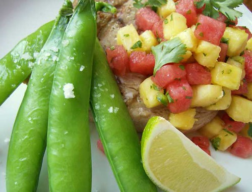 Grilled Tuna with Fire and Ice Salsa