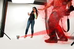 203/365 (Cameo de Cesar Gil y Zaira) (Jesus Belzunce) Tags: project paper toys pentax jesus estudio days cameo 365 dias proyecto especiales efectos zaira fotografico belzunce strobist joputa k200d cesargil