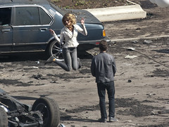 white girls cant jump (IC360) Tags: chicago movie explosion transformers wackerdrive movieset fireball autobots shialabeouf michaelbay joshduhamel rosiehuntingtonwhiteley samwitwicky transformers3