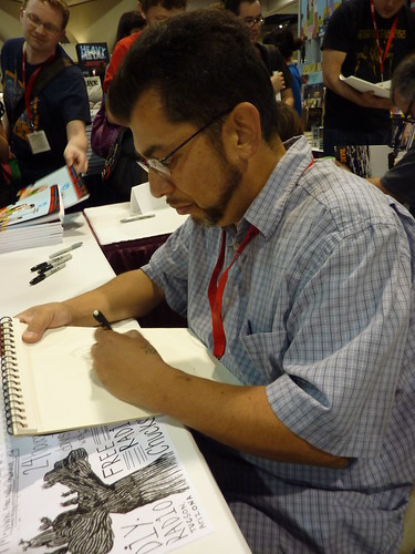 Jaime Hernandez at Fantagraphics, Comic-Con 2010