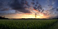 Popcorn (vladLitvak) Tags: sky panorama green nature clouds fire cornfield nikond70 8 burning popcorn f2 9shot maizefield tamron1750