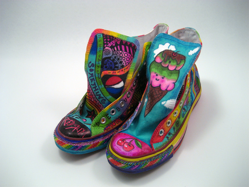 888c96c6bc8723 Completed Sharpie Shoes (Miss Sassy) Tags  art shoes converse sharpie chucks