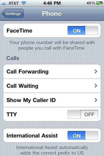 First Time with FaceTime: iPhone/Settings/FaceTime ON