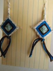 Summer Camp Earrings 3 (schmancytoys) Tags: cute earrings dangle summercamp embroideryfloss schmancy godseyes poppytalk