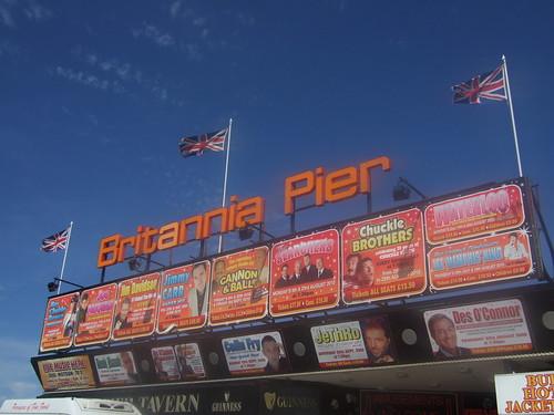 amazing line-up at britannia pier(!)