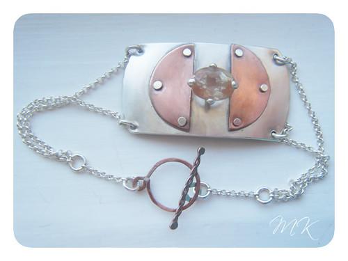 Andesine Labradorite Riveted Bracelet 2