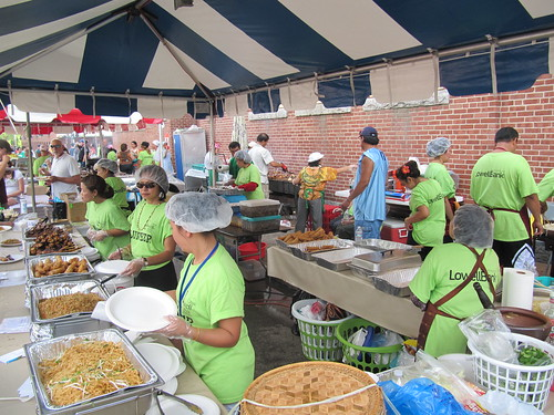 the Lao Food tent