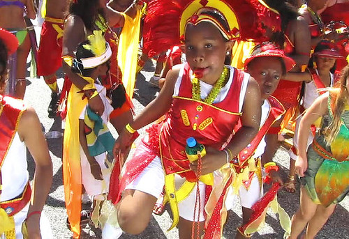 Young parade participants, Caribbean Days Festival 2010 African, Trinidad & Tobago, Jamaica and West Indies Celebration