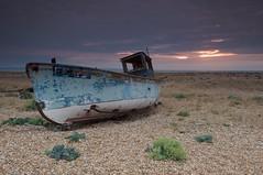 Dungeness (Duncan George) Tags: uk abandoned beach nature landscape outdoors coast landscapes boat kent nikon shingle pebbles dungeness wreck nationalnaturereserve d700