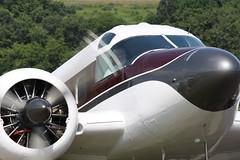 1955 BEECH E18S - Twin Beech N3710B (John. Romero) Tags: mountain 1955 skydiving airport model twin 18 beechcraft ems skyhaven beech endless tunkhannock e18s n3710b