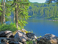Mason Lake and Boulders