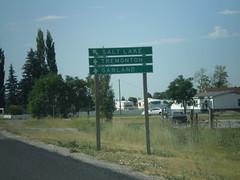 UT-13 South Approaching UT-82 (sagebrushgis) Tags: sign utah garland junction intersection biggreensign utahstatehighway ut13 ut82