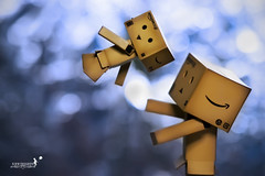 I know you would be there to catch me when i fall... (achew *Bokehmon*) Tags: blue anime fall love smile japan toy robot amazon bokeh box circles sony alpha catchme 135mm danbo a850 danboard
