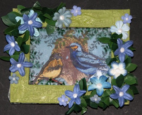 Bird Stamped Shadowbox Collage 1