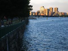 IMG_5109 (kz1000ps) Tags: city cambridge sunset urban tower boston skyline architecture skyscraper golden massachusetts charlesriver potd hour johnhancock prudential backbay memorialdrive