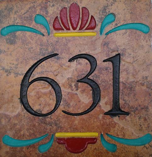 Hacienda Hotel Old Town - Room Number Tile