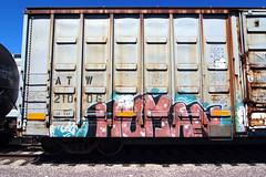 A 2 M (TRUE 2 DEATH) Tags: railroad streetart art train graffiti tag graf traintracks trains human railcar spraypaint boxcar railways railfan freight freighttrain rollingstock a2m benching nfx freighttraingraffiti