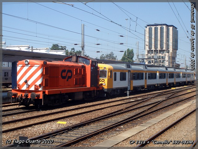 """CP 1413 + """"Camello"""" 592-083M - Contumil - 05 de Agosto de 2010"""