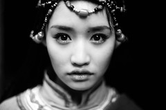 Lips. Eyes. Tibetan. (Jonathan Kos-Read) Tags: china portrait film television asian tv eyes asia chinese tibet shangrila actress tibetan  yunnan minority femaleportrait chinesecinema blackandwhiteportrait asiancinema chinesefilm asianfilm asianactress asianeyes chinesetv chineseportrait hotasiangirl hotchinesegirl asiantv chineseactress chineseeyes tibetanportrait asianshowbusiness chineseshowbusiness