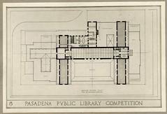 Library Floor Plan (Pasadena Digital History) Tags: pasadena pasadenacentrallibrary pasadenapubliclibrary pasadenahistory myronhunt