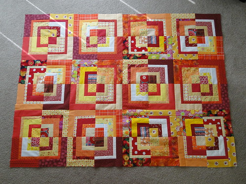 Bee Crazy Charity Quilt top #1