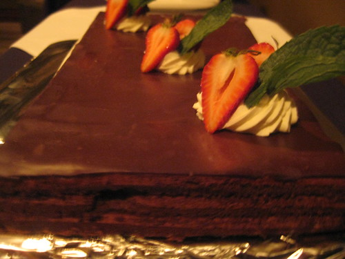 The amazing chocolate cake