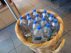 Basket of Fiji Bottled Water (1 of 3) - Starbucks